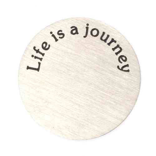 "Platte ""Life is a journey"" Silber (Standard)"