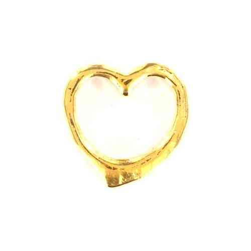 Floating Charm goldfarbenes Herz