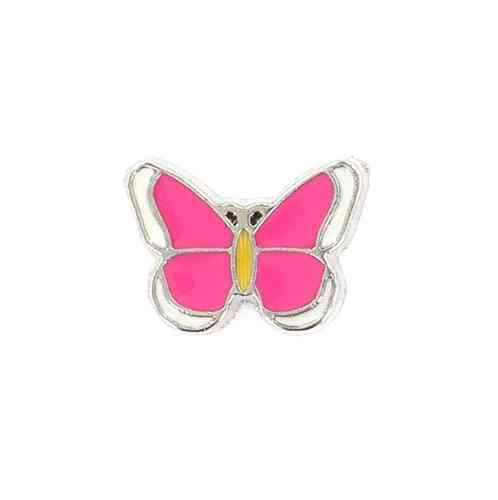 Floating Charm rosa Schmetterling