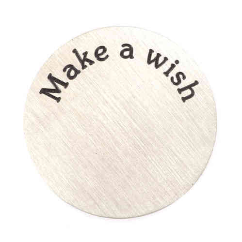 "Platte ""Make a wish"" Silber (Standard)"