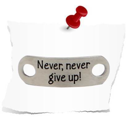 """Never, never give up!""- Matt"