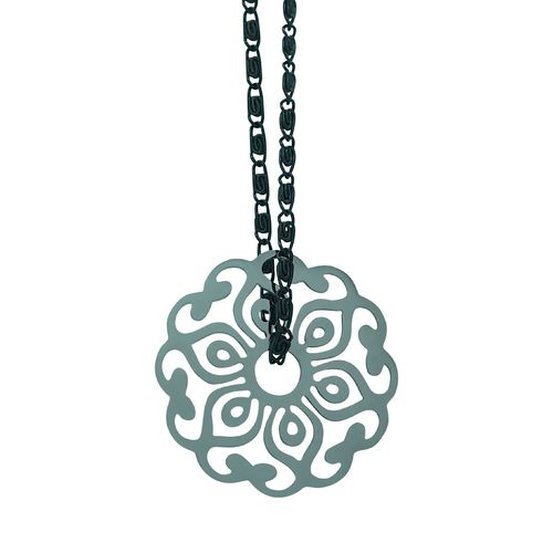 Ornament Kette Black/Silver - Medium